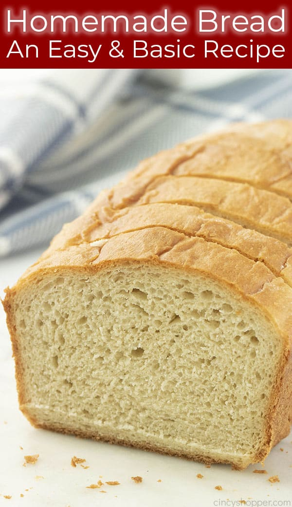 slices of homemade white bread
