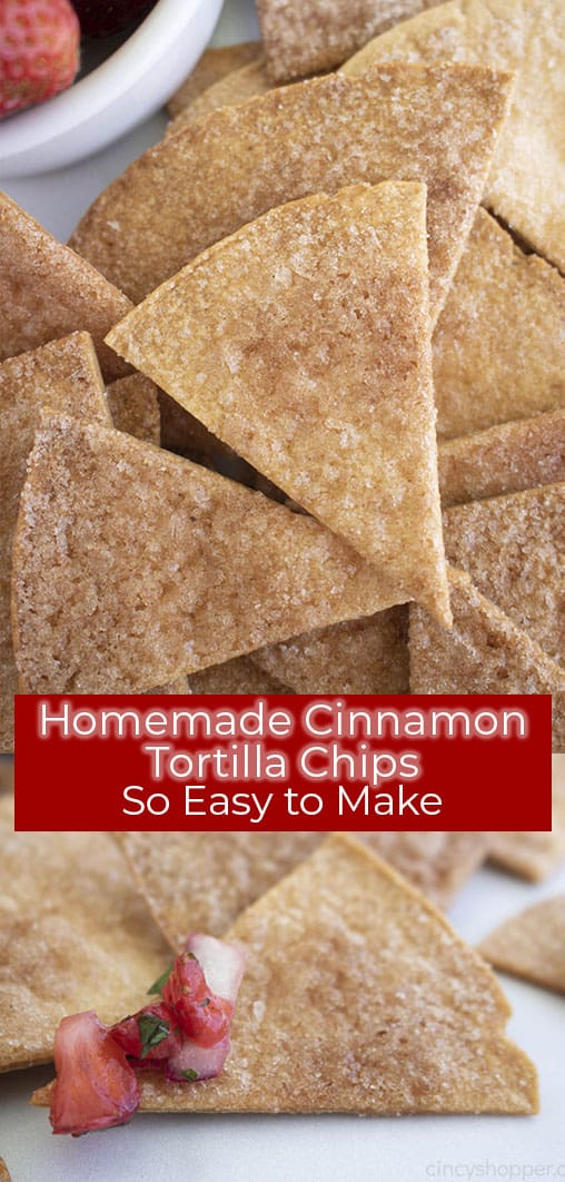 Long Pin with Homemade Cinnamon Chips. Text on image so easy to make!