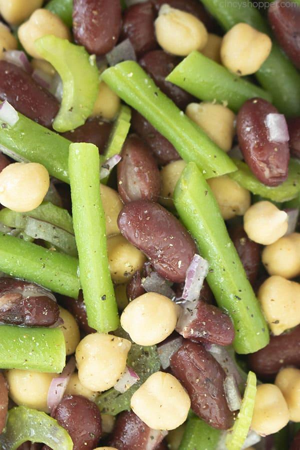 Close up: 3 bean salad