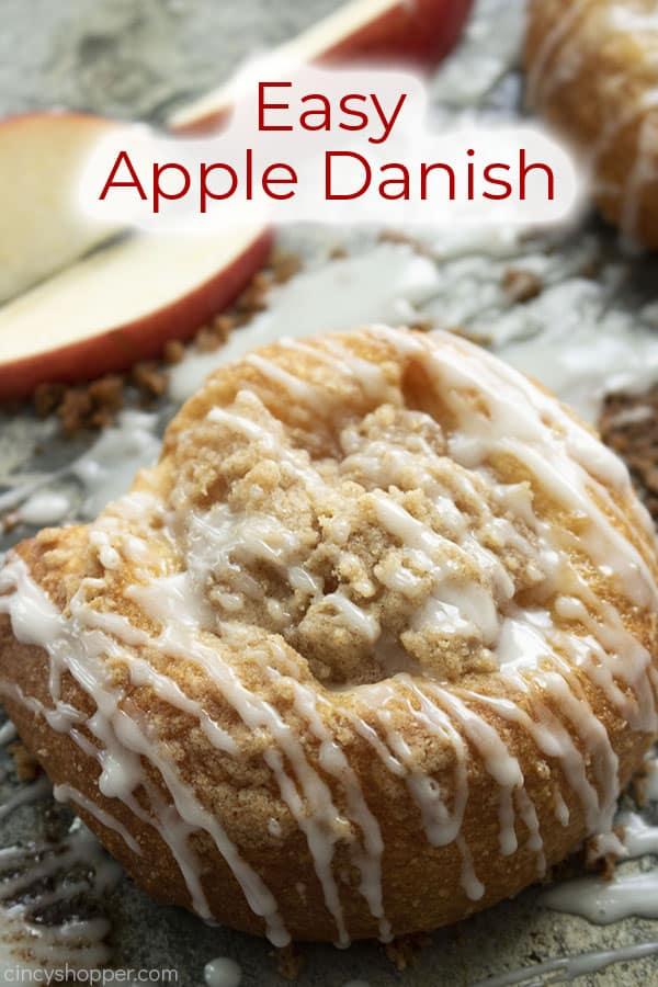 Text on image Easy Apple Danish