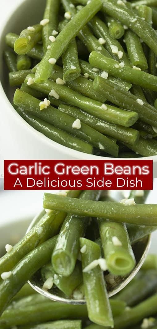 Long pin text image Garlic Green Beans