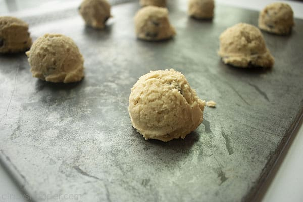 Dough on a cookie sheet