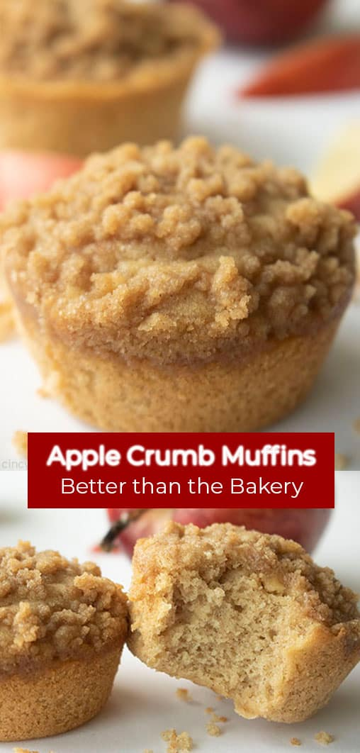 Long Pine double text on image Apple Crumb Muffins Better than the Bakery