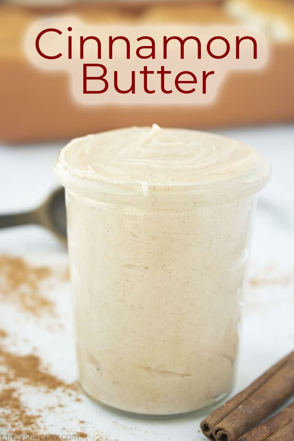 Text on image Cinnamon Butter