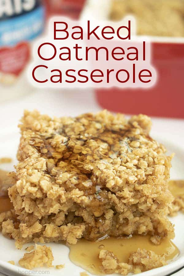 Text on image Baked Oatmeal Casserole