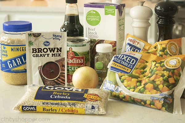 Ingredients for Beef Barley Soup