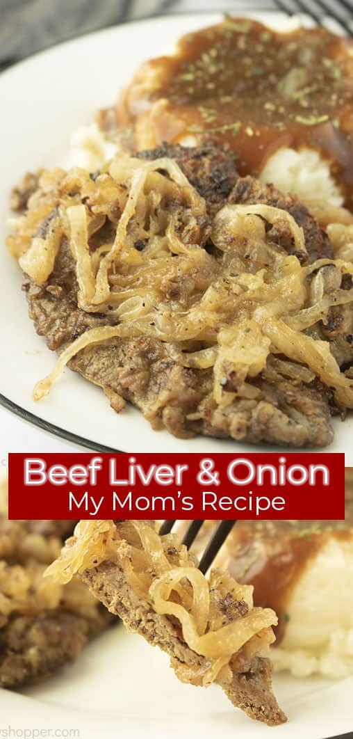 Long Pin collage with red banner Beef Liver & Onion My Mom's Recipe