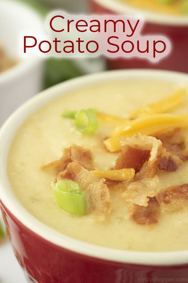 Text on image Creamy Potato Soup