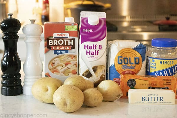 Ingredients to make Creamy Potato Soup