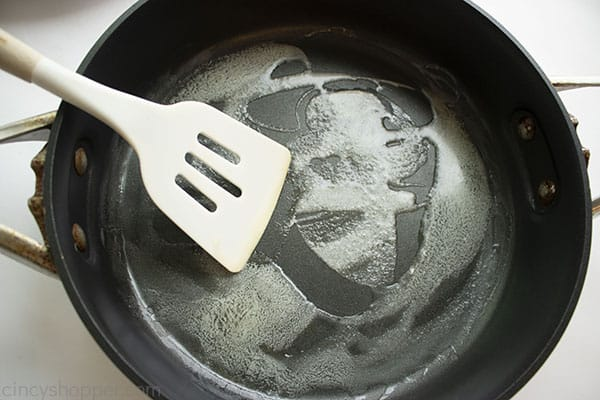 Buttered frying pan