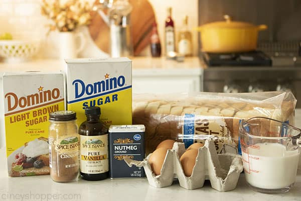 Ingredients to make the Best French Toast