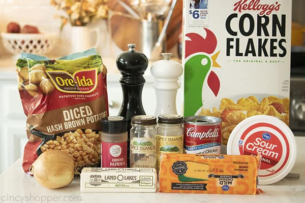 Ingredients to make Funeral Potatoes