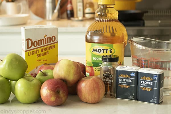Ingredients for homemade cider