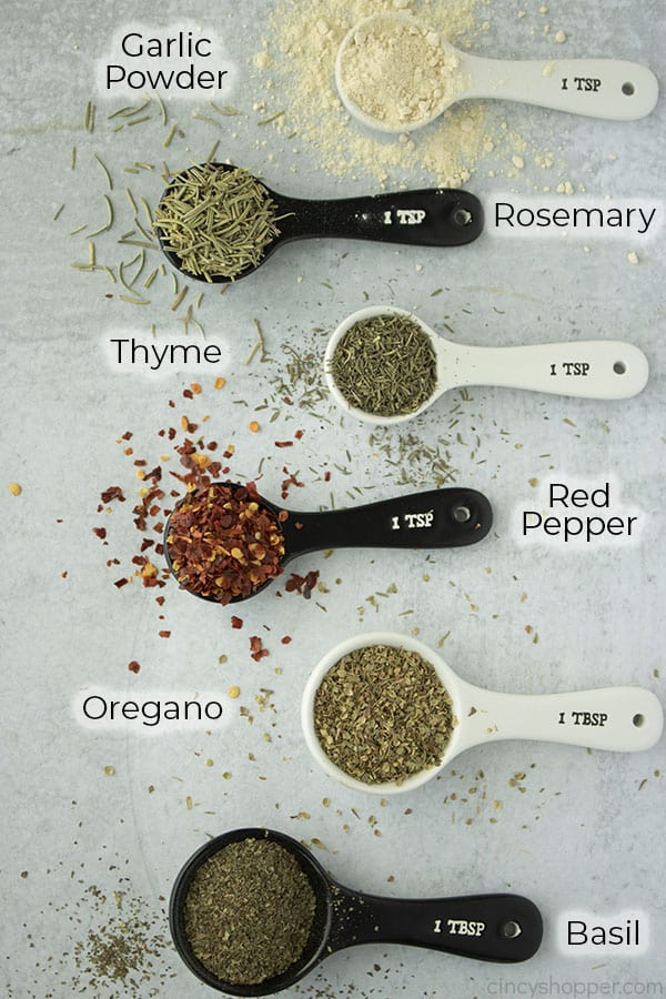 Text on image all spices for Italian seasoning