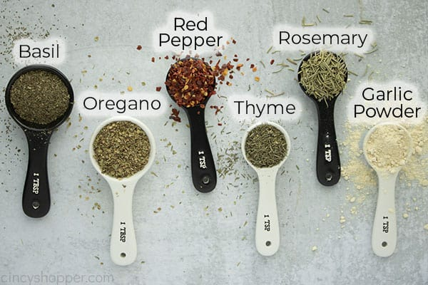Sideways text on image of spices for spice mix