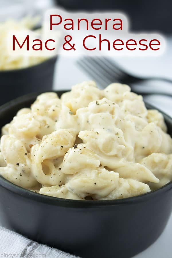 Text on image Panera Mac & Cheese