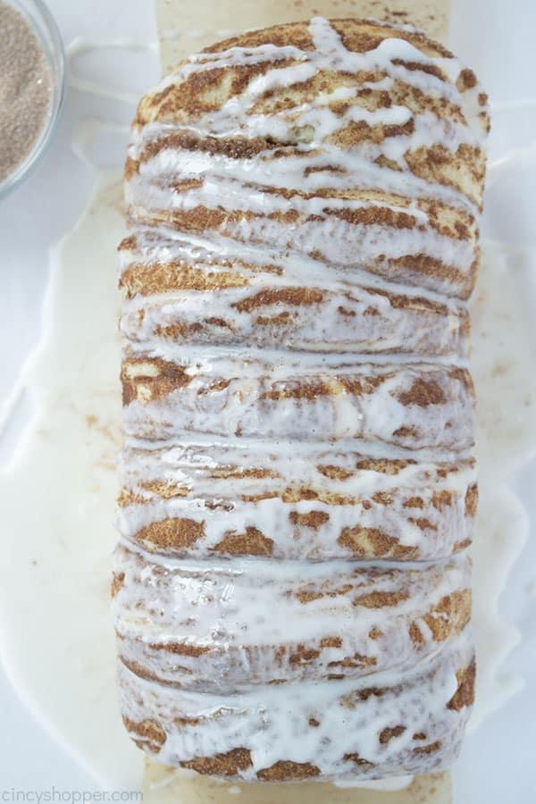 Pull Apart Cinnamon Bread with glaze