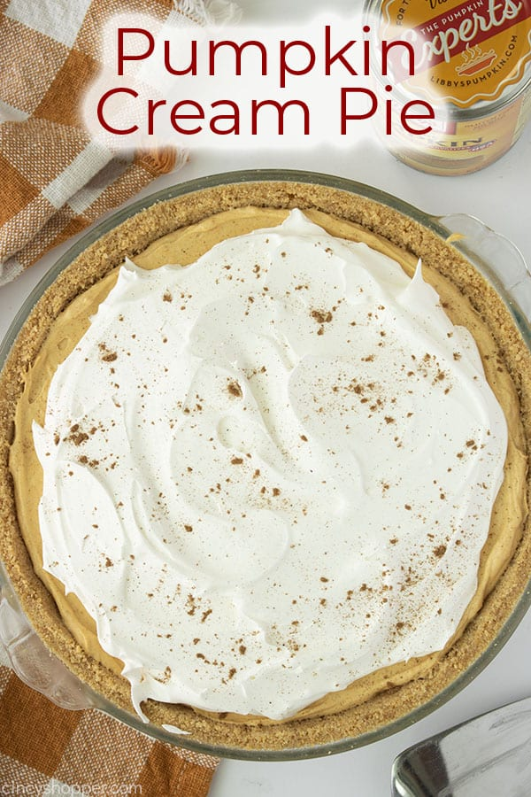 Text on image Pumpkin Cream Pie