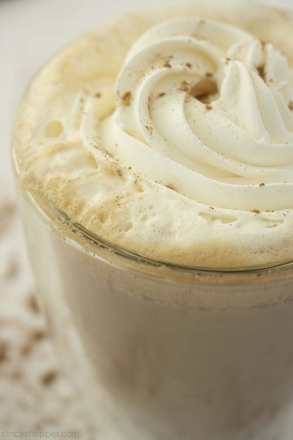 Copyat Starbucks Pumpkin Spice with whipped topping