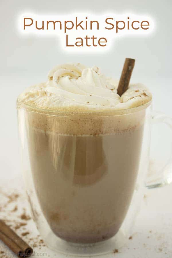 Text on image Pumpkin Spice Latte