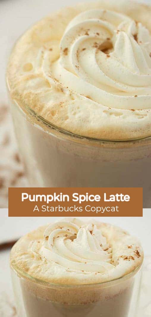 Long pin collage with banner text Pumpkin Spice Latte A Starbucks CopyCat