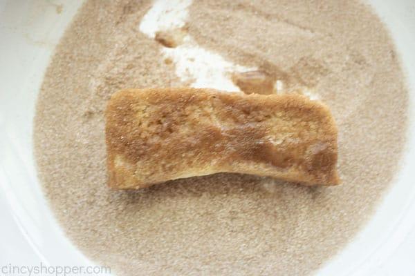 Stick in cinnamon sugar