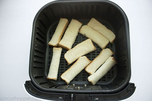 Sticks toasted in air fryer