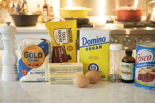 Zutaten für altmodische Butterkekse