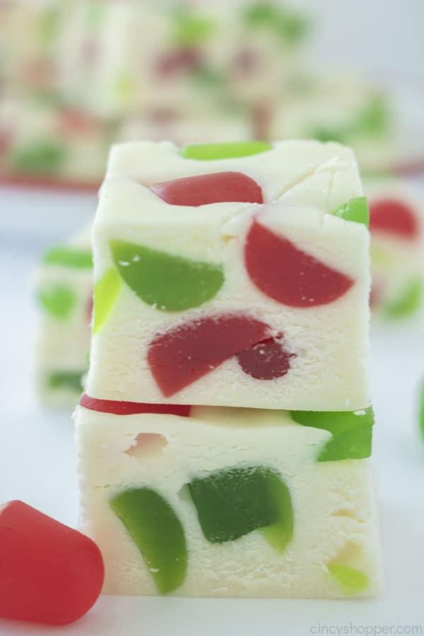 Piece of Christmas Gumdrop Nougat Candy