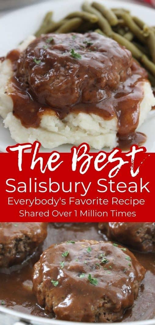 Long pin collage The BEST Salisbury Steak
