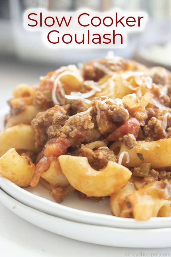 Text on image Slow Cooker Goulash