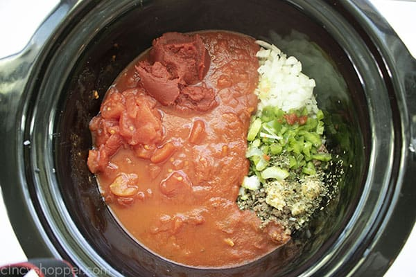 Remaining ingredients added to slow cooker