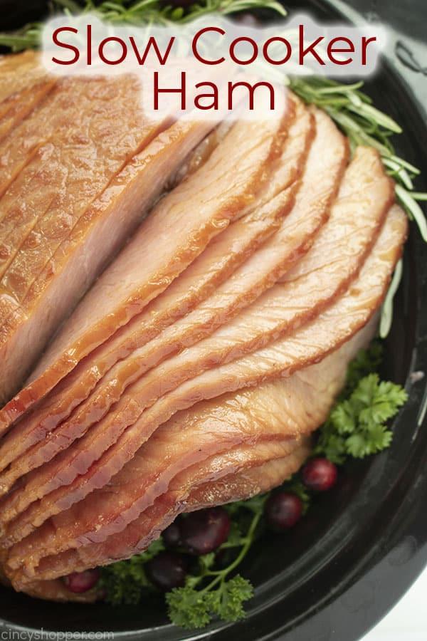 Text auf Bild Slow Cooker Ham