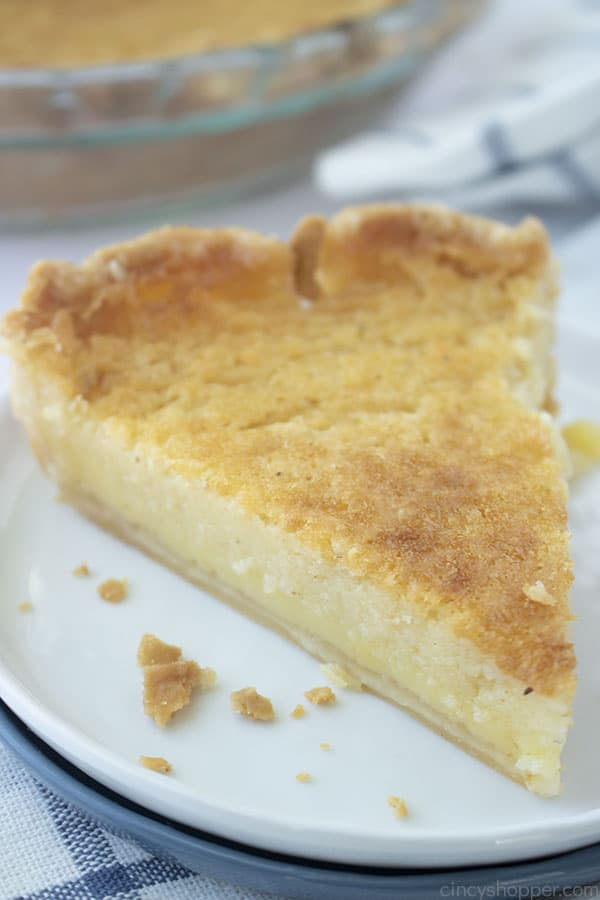 Southern Buttermilk Pie on a plate