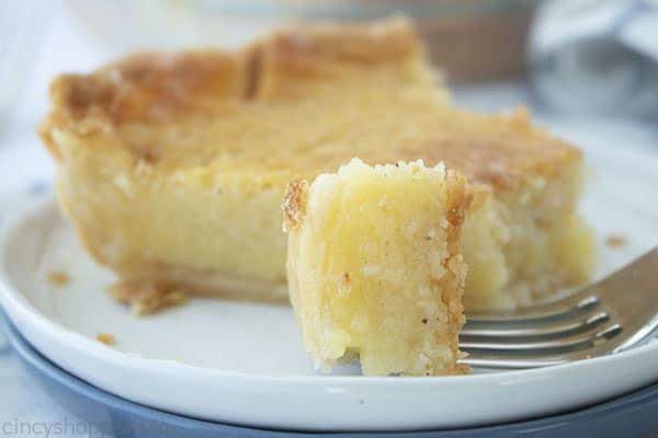 Fork with buttermilk pie