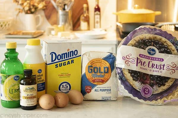 Ingredients to make pie