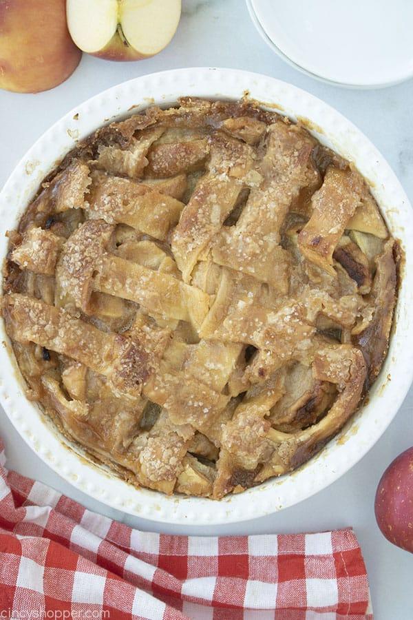 Grandmas pie on pie plate