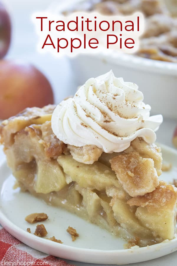 Text on image Traditional Apple Pie