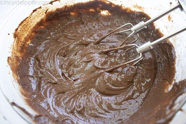 Mixed chocolate pudding
