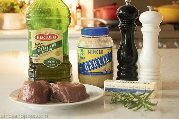 Ingredients for the BEST Filet Mignon