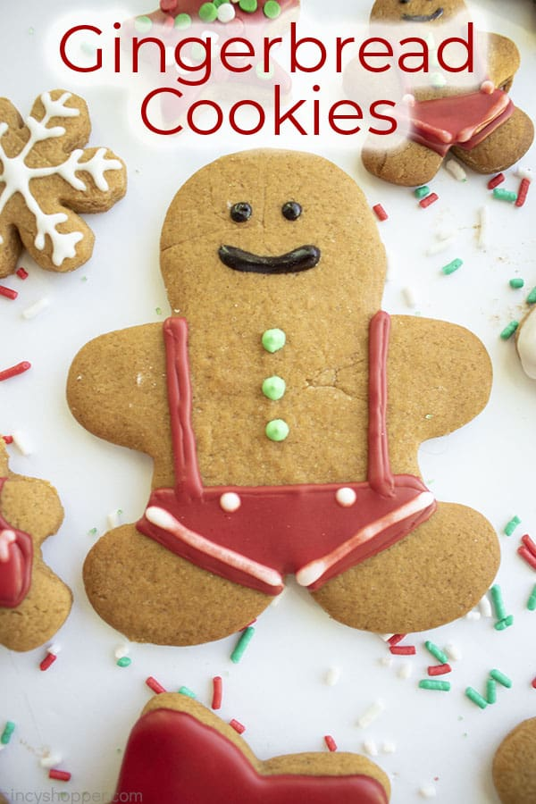 Text on image Gingerbread Cookies