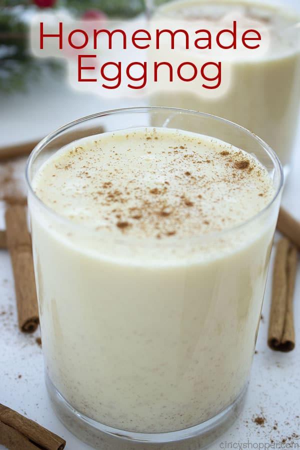 Text on image Homemade Eggnog