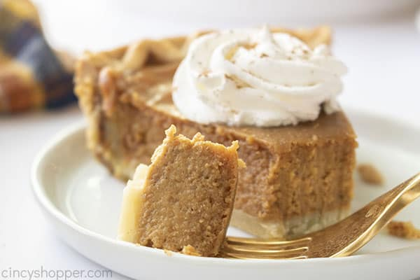 Pumpkin pie on a plate