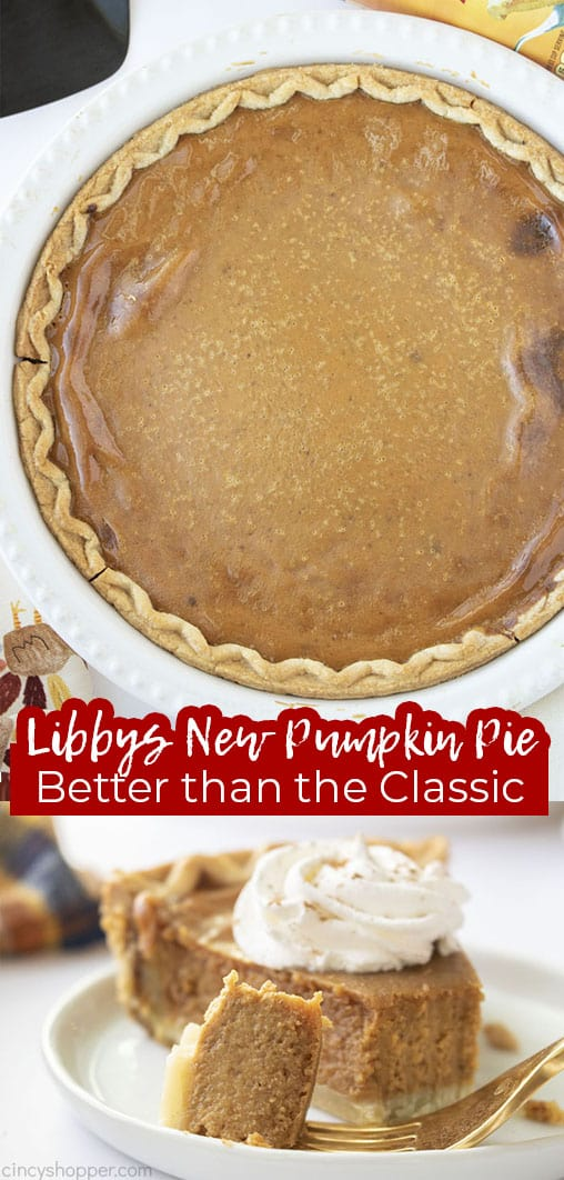 Long pin collage text Libbys New Pumpkin Pie Better than the Classic