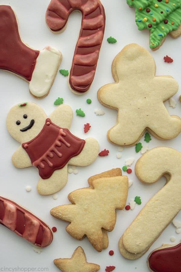 Weihnachtszuckerplätzchen für Ausschnitte