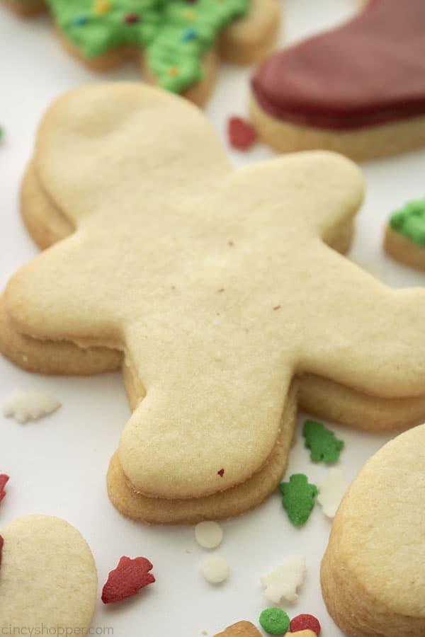 Weihnachtszuckerplätzchenausschnitte