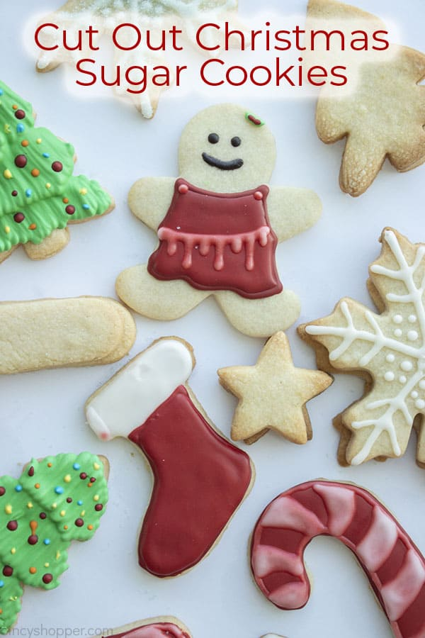 Text on image Cut Out Christmas Sugar Cookies