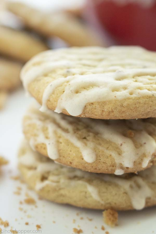 Stack of Snickerdoodle Eggnog Cookies