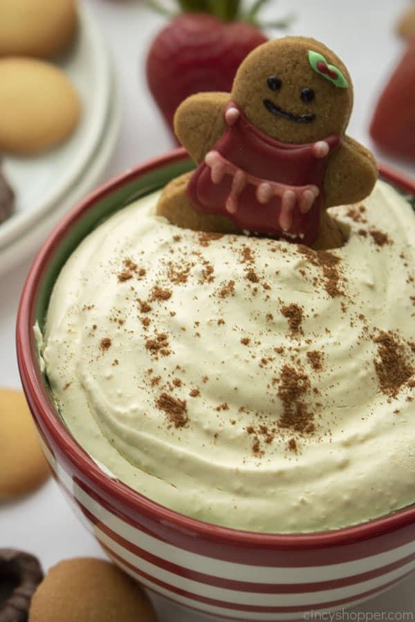 Eggnog Christmas Dip in a bowl