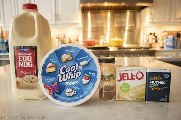 Ingredients for Eggnog Pudding Dip